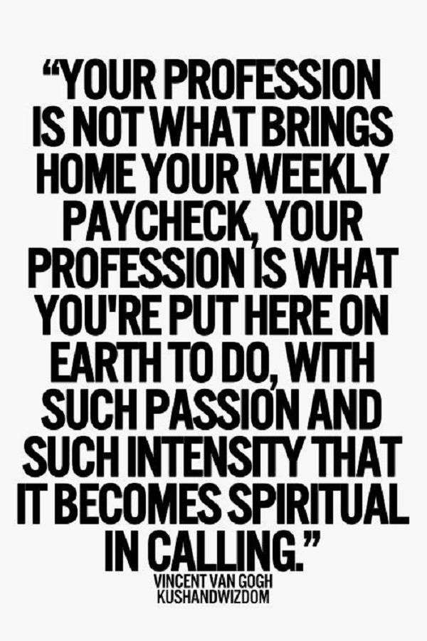 Lovin it. It becomes spiritual because everything you do should be to the glory of God.