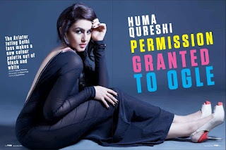 Huma Qureshi's Scans From FHM Magazine – September 2012 Issue.   Bollywood Cleavage