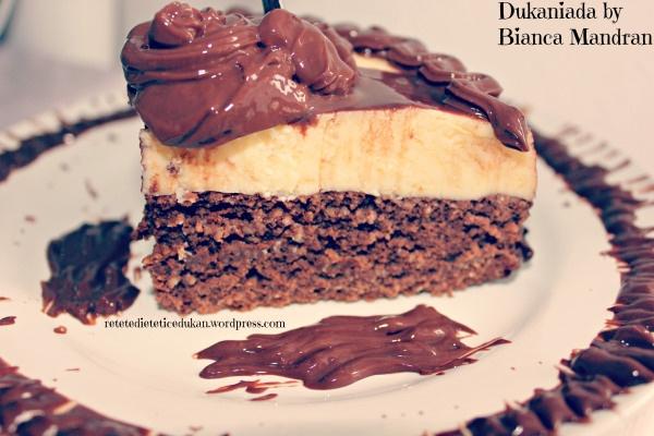 Tort Crème brûlée ciocolatos