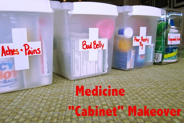 """Check out the latest: Medicine """"Cabinet"""" Makeover - The Realistic Organizer"""