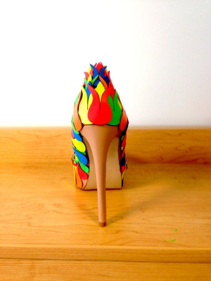 Backside of the shoe