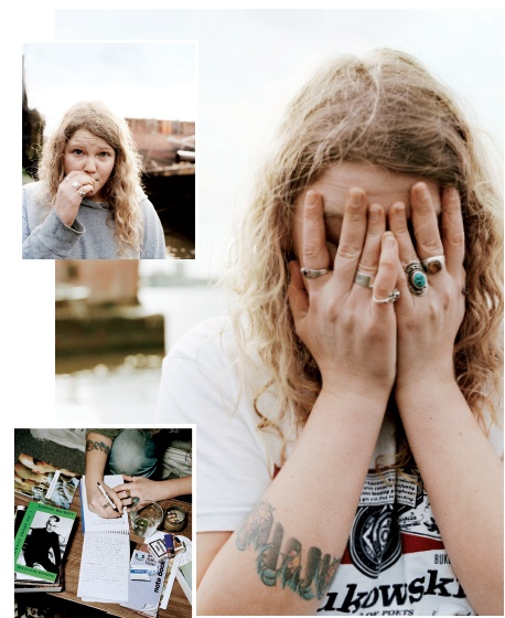 Performance poet Kate Tempest photographed by Neil Gavin for Twin Issue II.