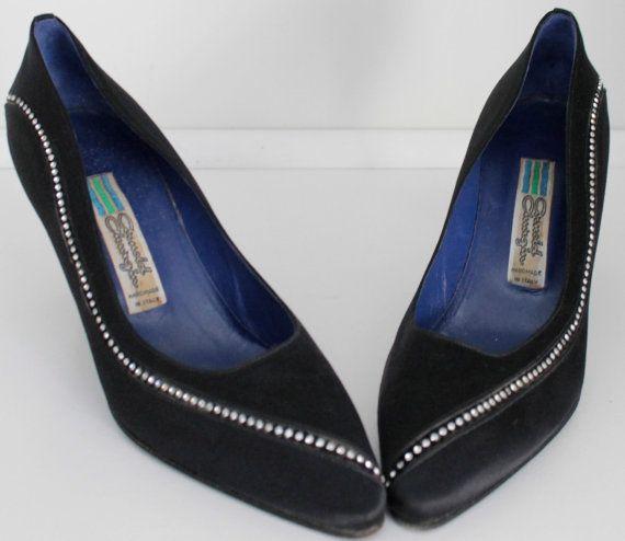 Mad Men Joan Holloway Rockabilly Black Dress Shoes by EarthsTrove