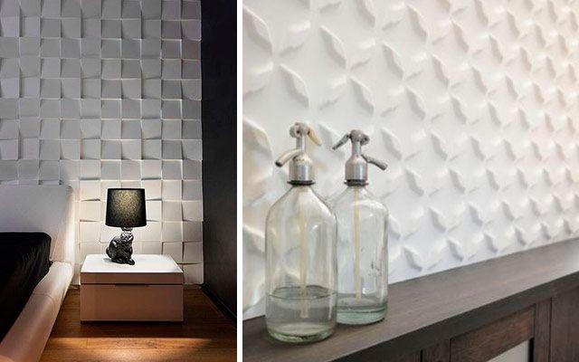 4 ideas para decorar paredes en 3d y dar volumen a tus - Placas para decorar paredes ...