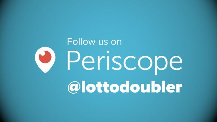 Follow us on Periscope https://www.periscope.tv/lottodoubler   #periscope #lottodoubler #lottery #lotto #instantlottery