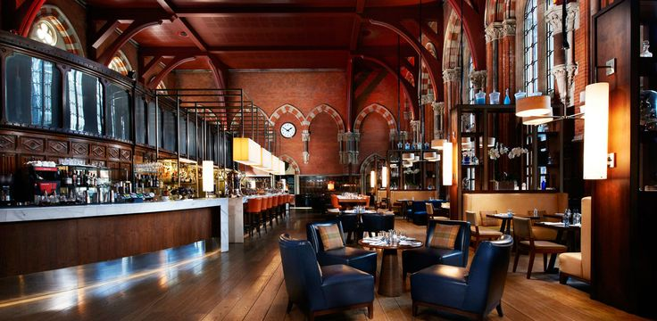 Booking Office Restaurant in St Pancras London: Offers a late night menu 10pm - 6am, reasonable price for the setting and location. Non-residents permitted.
