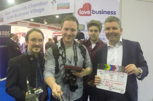 DBTV Team - Neil Munro, Jason Elberts, Ollie Burrows & Neale Lewis At The Love For Business Event