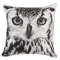 KAAT Amsterdam sierkussen Owl (45x45 cm) Zwart, wit