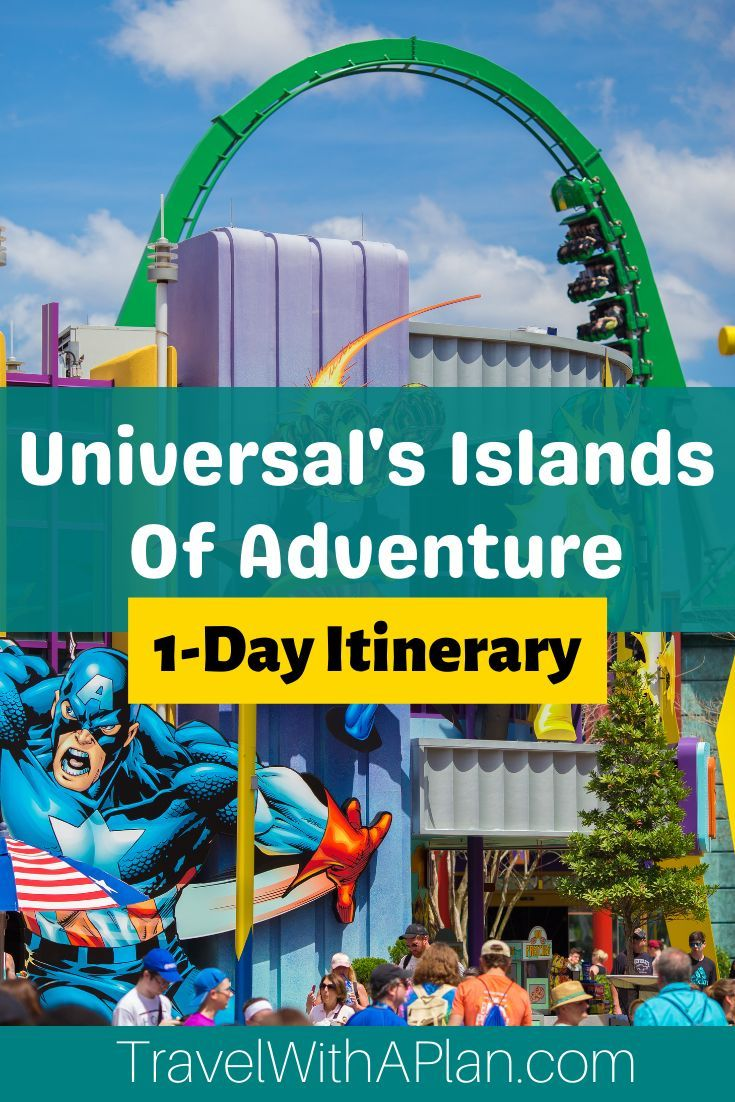 Islands Of Adventure Touring Plan 1 Day Itinerary Travel With A Plan In 2021 Islands Of Adventure Universal Islands Of Adventure Florida Family Trip