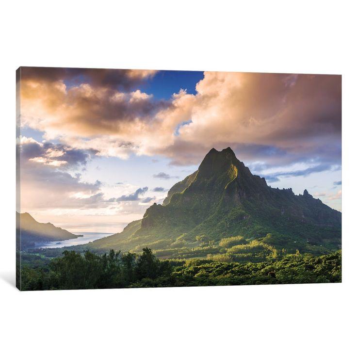 iCanvas 'Mount Rotui, Mo'orea, Windward Islands, Society Islands, French Polynesia' by Matteo Colombo Canvas Print