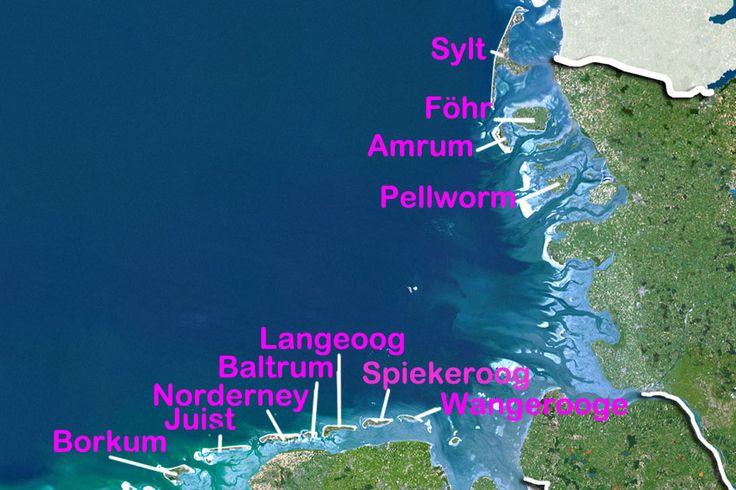 Karte Nordseeinseln