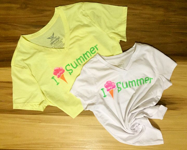 ICE CREAM Women's T-shirt, yellow shirt/ green text/ I love summer/neon paint/ice cream cone/mommy and me matching shirts/glitter by ThreadandBristle on Etsy https://www.etsy.com/listing/455280518/ice-cream-womens-t-shirt-yellow-shirt