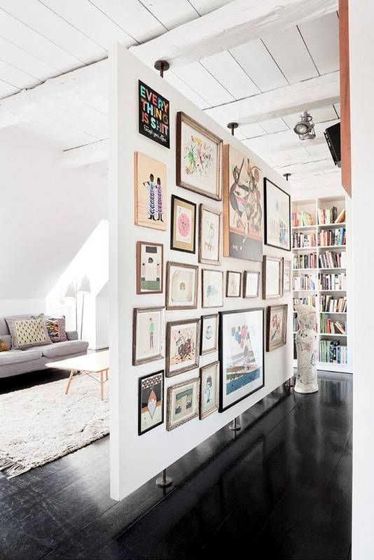fake wall = the perfect gallery wall opportunity