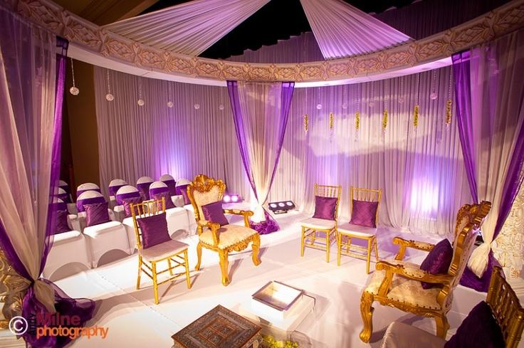 Purple & gold indian wedding #indianwedding #asianwedding