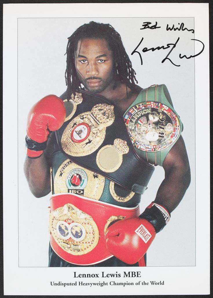 Lennox Lewis, Undisputed Heavyweight Champion of the world