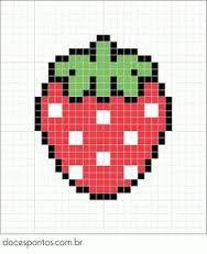 Resultado de imagen de fresas en punto de cruz