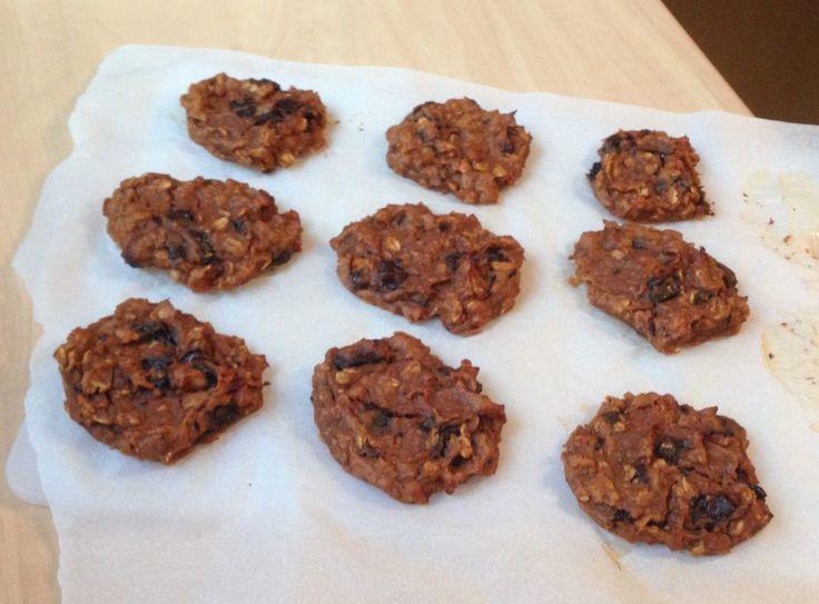 Cookies à la patate douce, beurre de cacahuètes, flocons d'avoine et pépites chocolat | Bocook