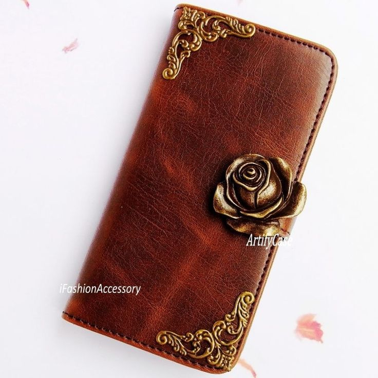 Flower phone wallet Leather flip case Rose Handmade cover For Samsung Note 3 4 5 #UnbrandedGeneric  Beauty and the beast phone case