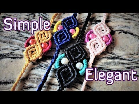 Macrame simple but elegant bracelet - macrame tutorial for the fall - YouTube