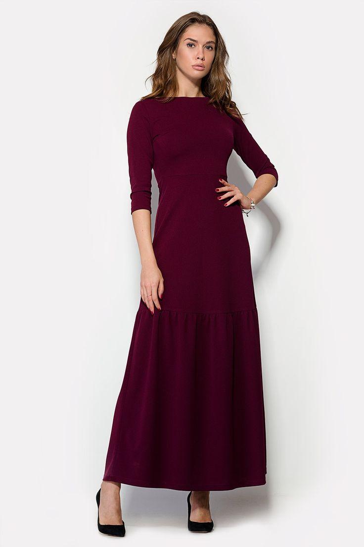 Платье «EXTON» винного цвета ОСЕНЬ| 2016 | DeeMarbless