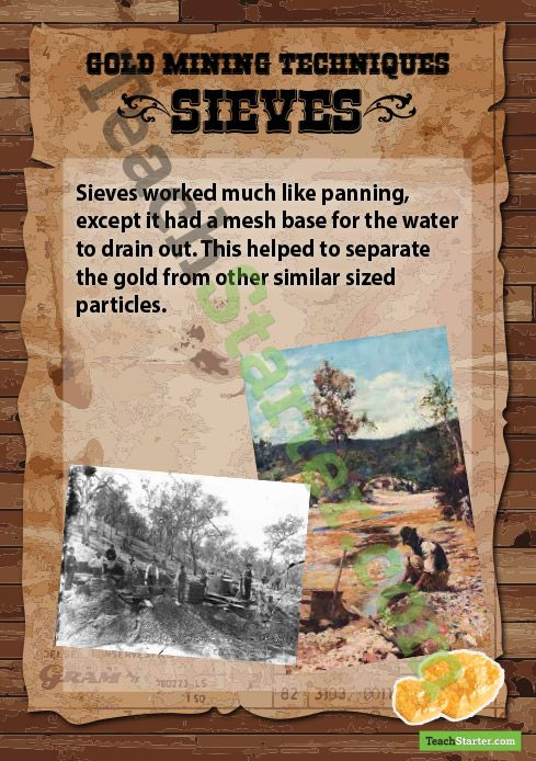 Gold Mining Methods - Sieves