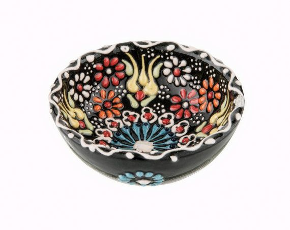 """This embossed bowl can be used as a decoration item with its unique color in your house or as a gift for your loved ones  Impress your guests on your dining table (handwash only)    DIMENSIONS  1.9"""" / 5 cm Round  Please do no hesitate to ask for more colors / patterns"""
