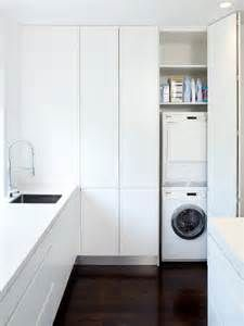 laundry cupboard with folding doors
