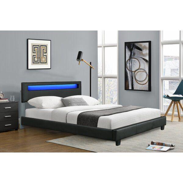 Aughe Upholstered Low Profile Platform Bed Bedroom Bed Design Bedroom Interior Adjustable Beds