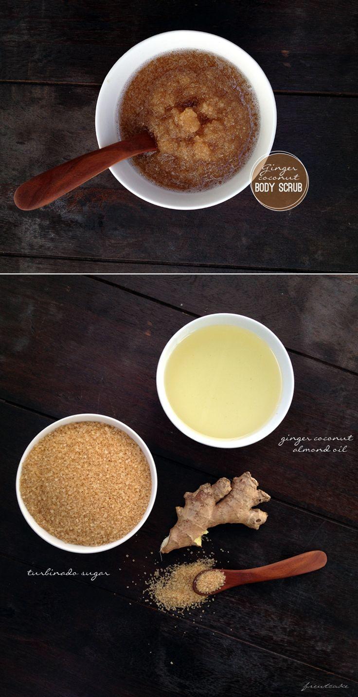 Ginger Coconut Body ScrubTutorials, Recipe, Diy Gingers, Coconut Oil, Sugar Scrubs, Gingers Coconut, Spas, Diy Spa, Coconut Body Scrubs