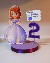 Resultado de imagem para enfeites de mesa de aniversario da princesa sofia