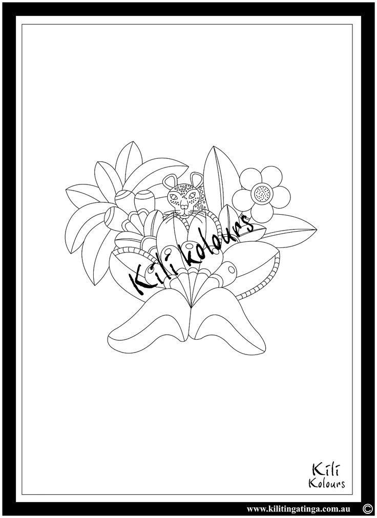 ideal for #ink, #paint, #pencil and #watercolour. #Adultcolourining #colour-in #adult #relax #africanart #giveback #stockingfllers #coloringforadults #drawing #ink #drawings #Coloring book #floraldesign