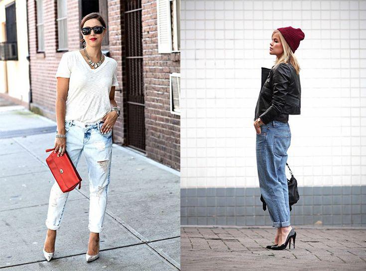 Boyfriend jeans, i jeans larghi che sembrano rubati all'armadio del fidanzato! Ecco 40 abbinamenti sexy e femminili anche per mascherare i Kg in più :)