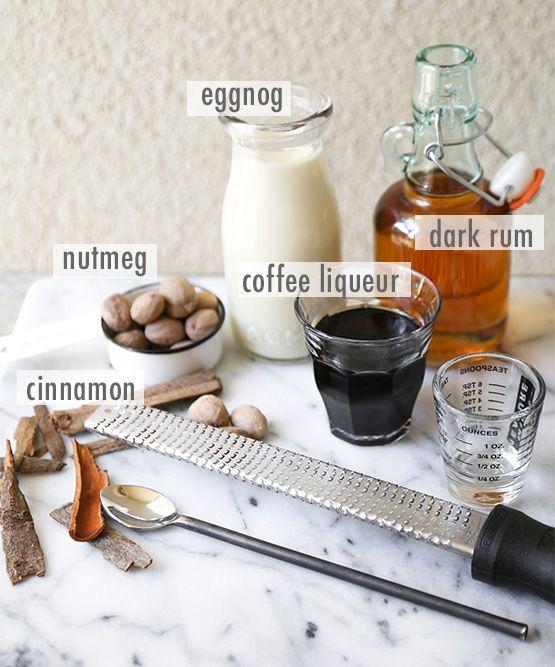 Kahlua eggnog holiday cocktail // Ingredients