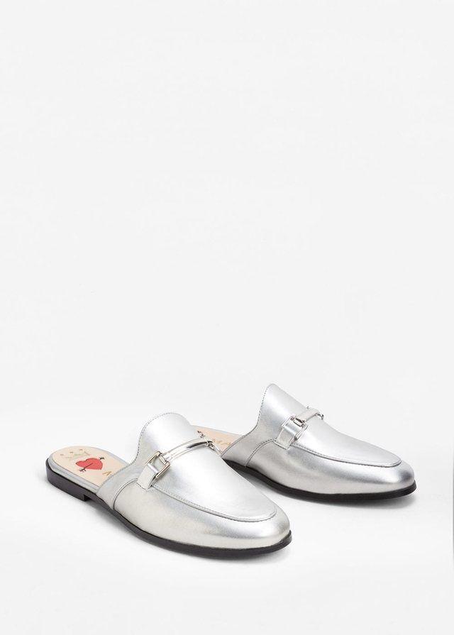 Metallic Slip-on Loafers by Mango
