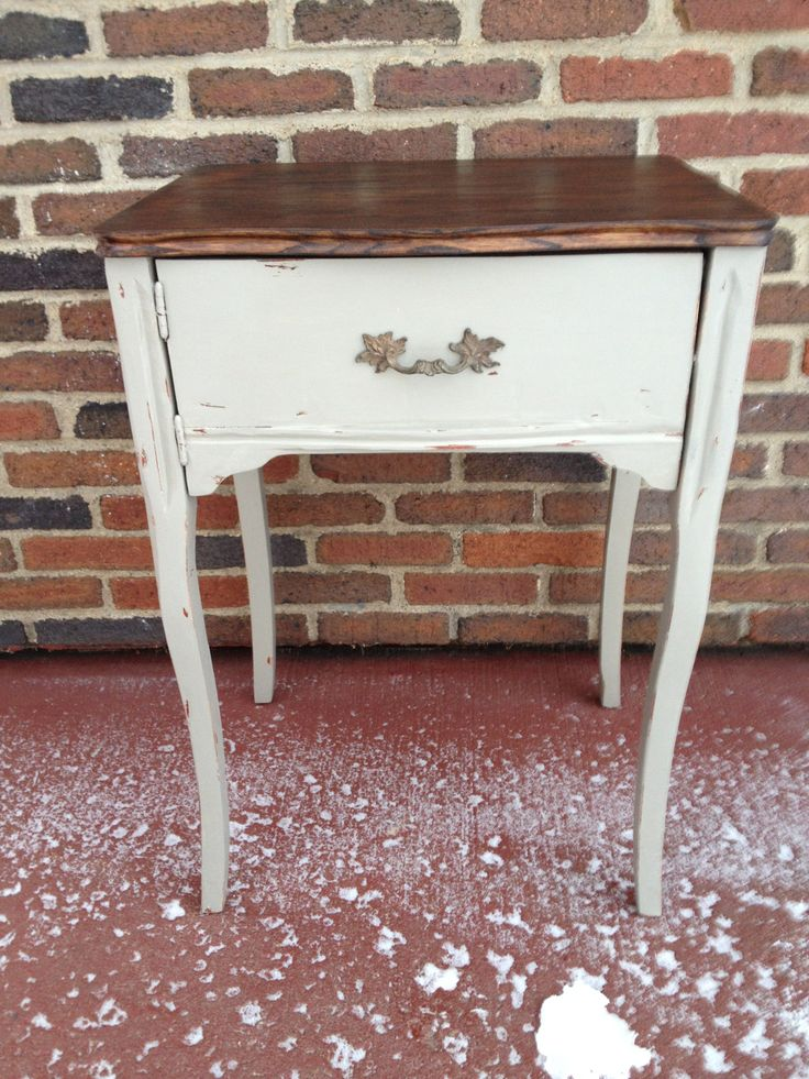 Old Sewing machine table converted into side