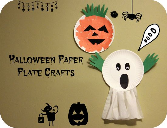 paper plate ghost halloween craft for preschoolers - Halloween Crafts For The Classroom