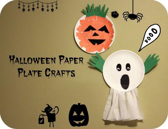 halloween paper plate crafts pinterest