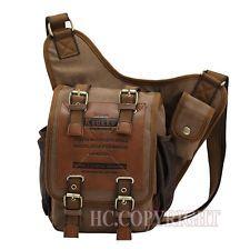 Top Man винтажный военные холст плеча сумка альпинизм исследовать рюкзак
