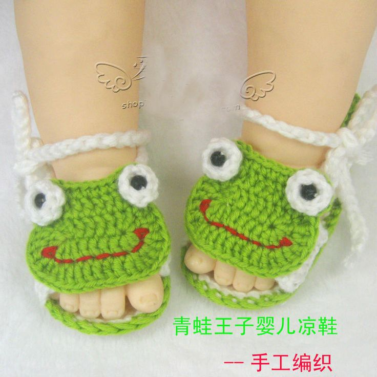 Knitting Pattern For Frog Slippers : 2013 fashion frog knitted baby shoes patterns baby shoes ...