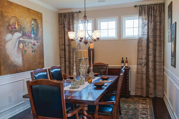Decorated Model Homes Dining Rooms Pinterest