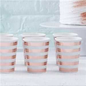 JUST ADDED - Itty Bitty Baby Shower Hello World Rose Gold Foil Cups   VIEW HERE: