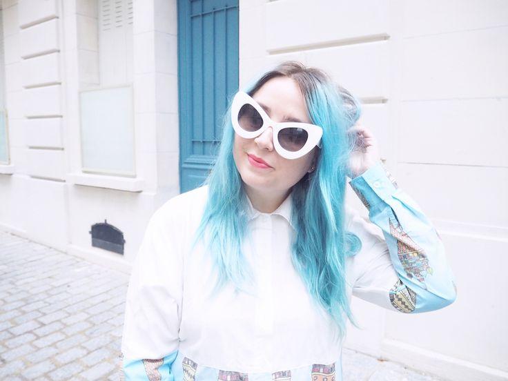Lazy Kat: Unique Retro Round Crystal Kaleidoscope Lens Sunglasses 9627
