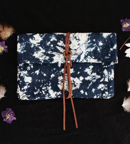 Abstract Denim Clutch | This altered denim clutch is made for carrying makeup, knick k... | Handbags
