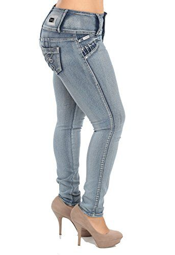 Plus Size ,Butt Lifting High Waist Skinny Jeans with Pretty Pockets (Faded Blue)-13