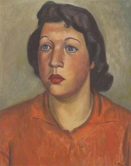 Bernard Meninsky (Ukraine 1891–1950 England), Portrait of a Woman, oil/canvas. Collection Abbot Hall Art Gallery, Kendal, England.