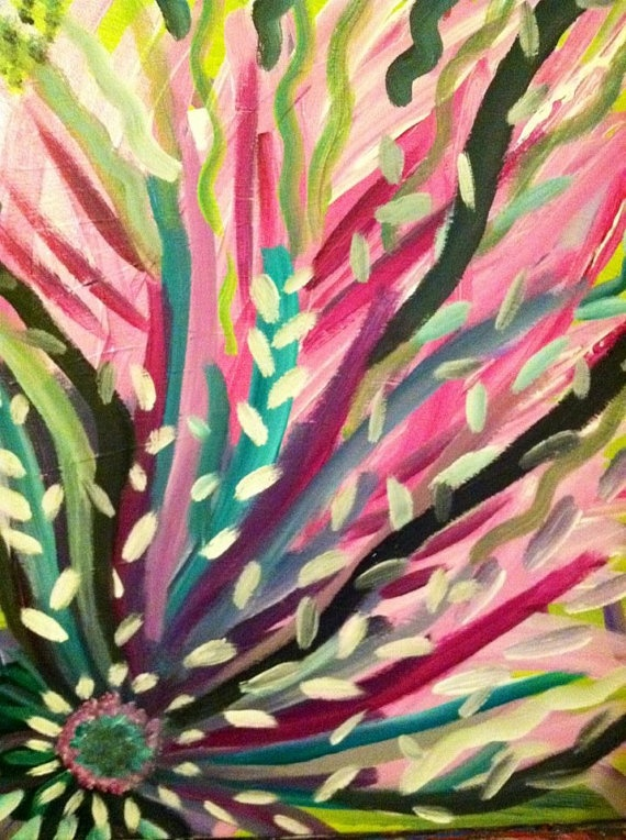peacock flower by justinelighthall on Etsy, $25.00