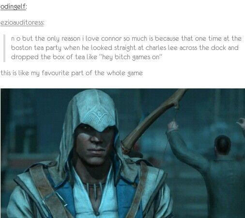 XD Assassin's Creed 3.---^.^ Connor is a BAMF when he's not too busy being sweet