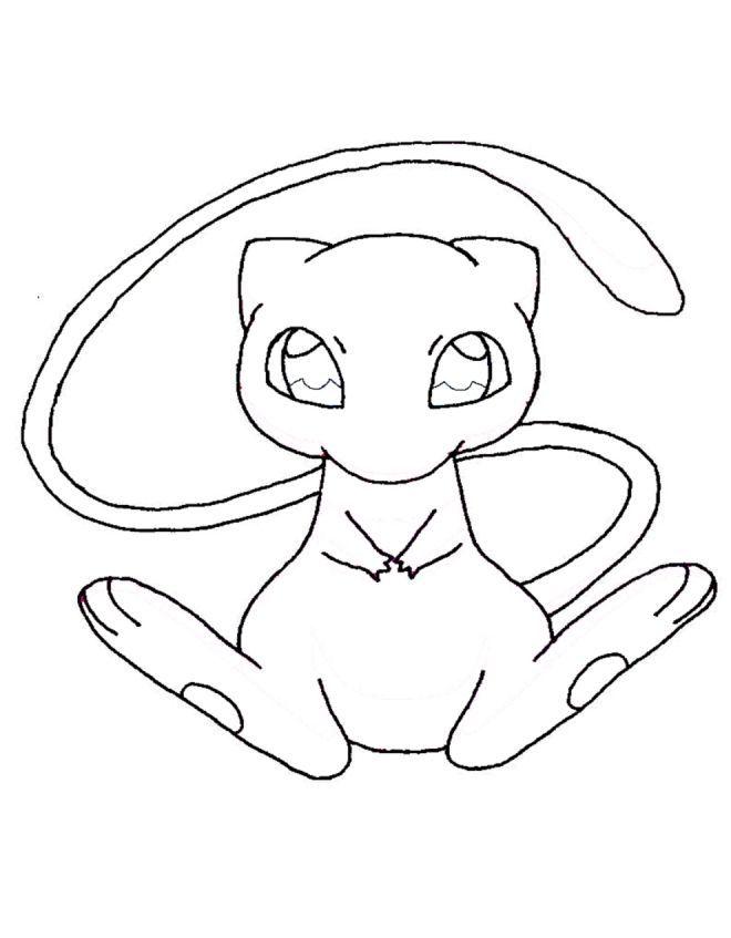 Mew Pink Blue Pokemon Coloring Pages Pokemon Coloring Pikachu