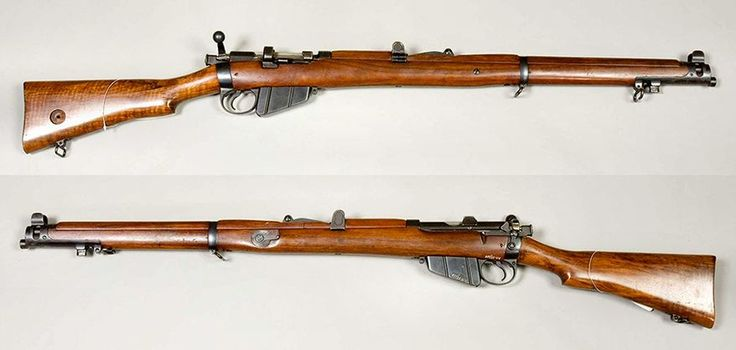 LEE -ENFIELD - a bolt-action, magazine-fed, repeating rifle was the main firearm used by the military forces of the British Empire and Commonwealth during the first half of the 20th century. It was the British Army's standard rifle from its official adoption in 1895 until 1957. A redesign of the Lee-Metford, the Lee-Enfield superseded the earlier Martini-Henry, Martini-Enfield, and Lee-Metford rifles. It featured a ten-round box magazine which was loaded with the .303 British cartridge ...