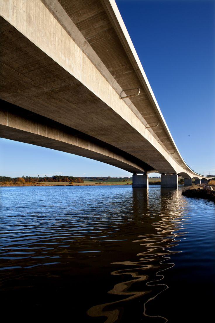 Bridge over the pond Koberný, D3 highway, Czech Republic